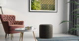 Alexa Small Leather Round Ottoman
