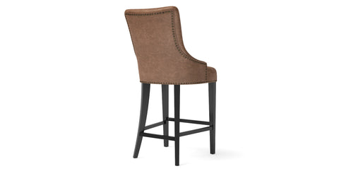 Zoe Leather Bar Stool