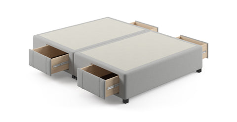 Queen Size Upholstered Bed Frame Base with 4 Drawers