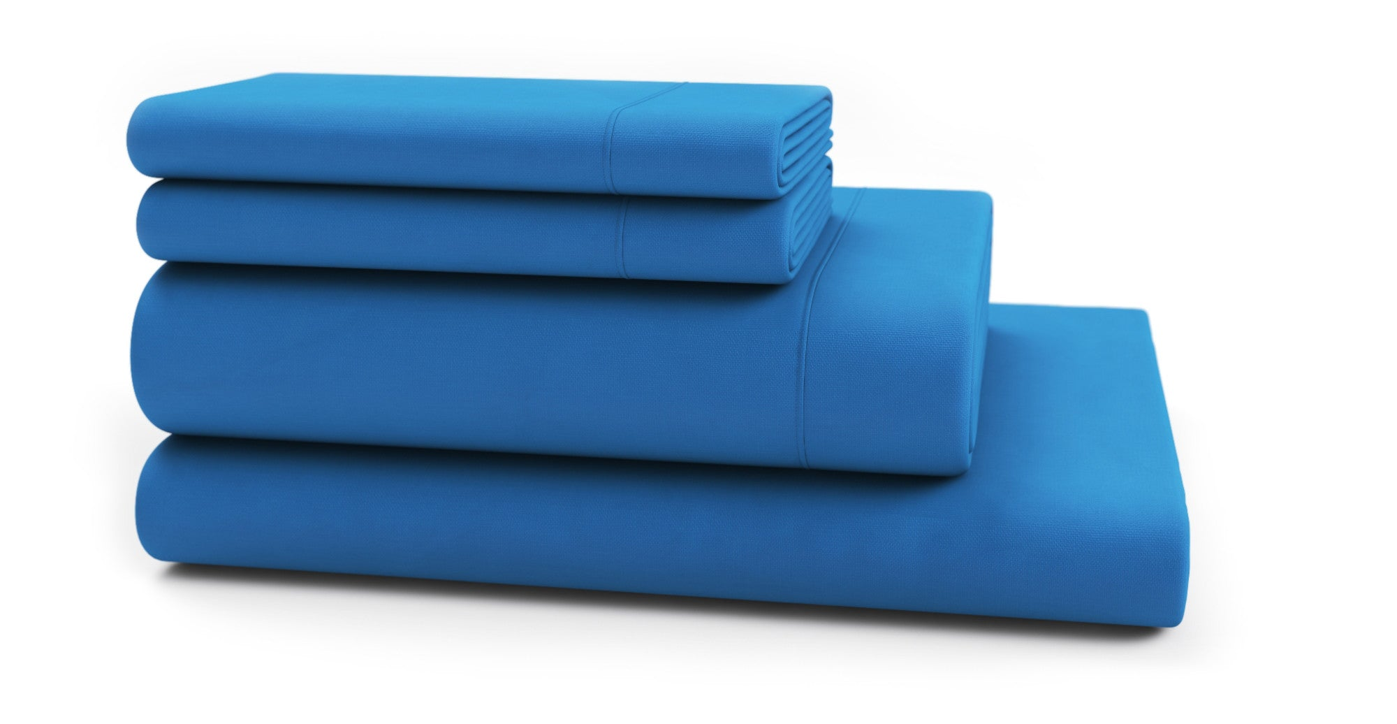 Brosa Essentials Cotton Rich Sheet Set French Blue