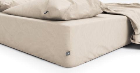 Brosa Essentials Cotton Rich Sheet Set Taupe