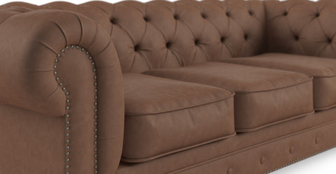 Camden Chesterfield Leather 3.5 Seater Sofa