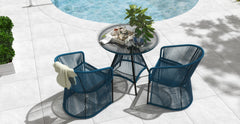 Costa 3 Piece Outdoor Setting - 2x Dining Chair with Dining Table
