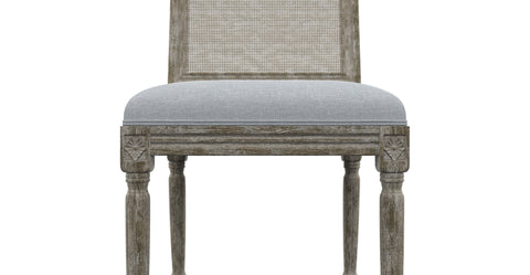 Petite Fleur 2x Dining Chair with Rattan
