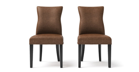 Zoe Leather Dining Chair Set of 2