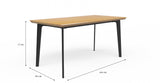 Bell Dining Table and Phoenix Dining Chairs x 4
