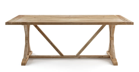 Chablis Trestle Dining Table 180 x 90