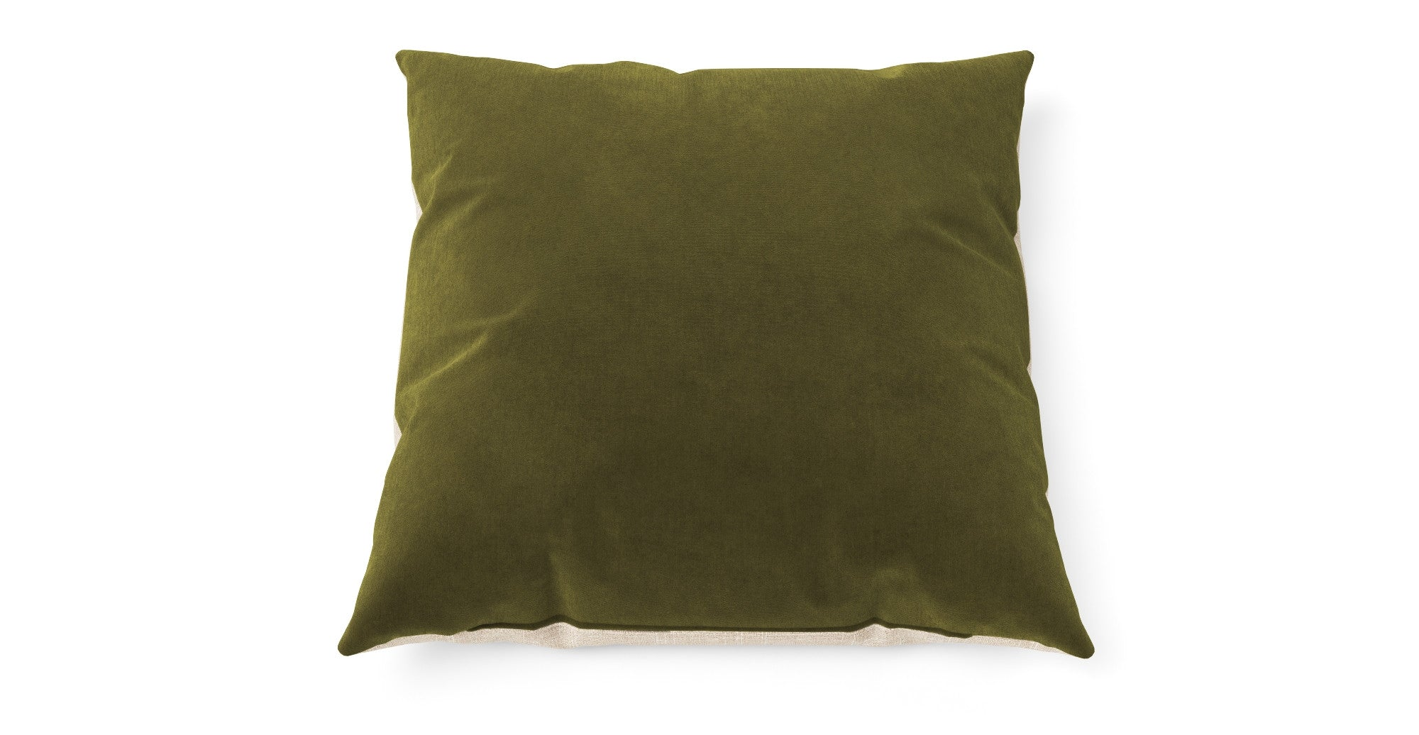 Elementary Cushion Olive Green with French Beige