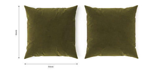 Elementary Cushion Olive Green with Olive Green