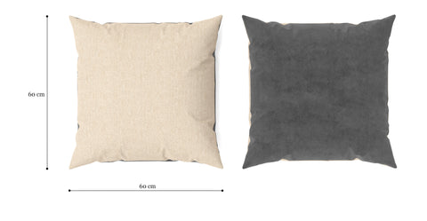 Elementary Cushion Cosmic Anthracite with French Beige