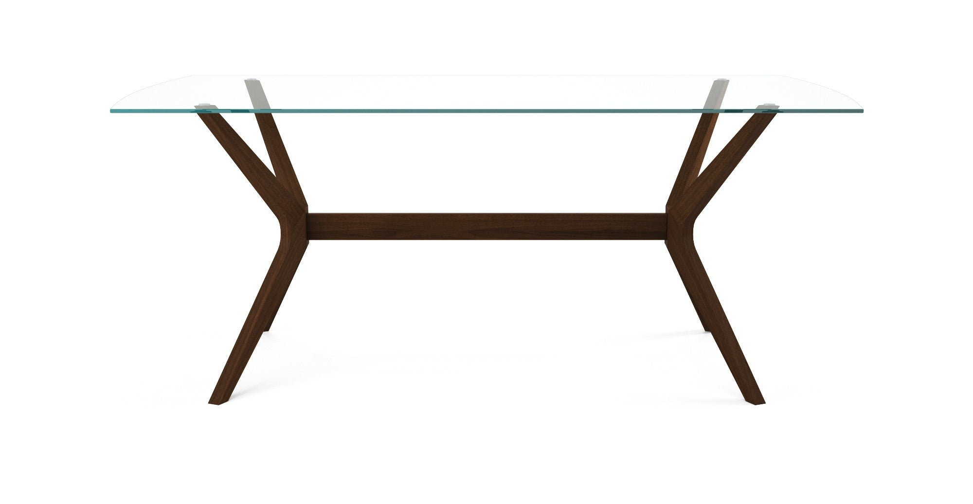 Elizabeth Glass Top Dining Room Table