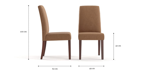 Grace 2x Leather Dining Chair