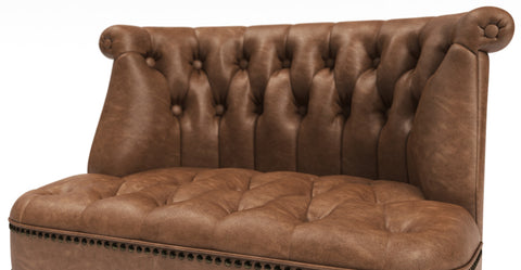 Helene Leather Loveseat