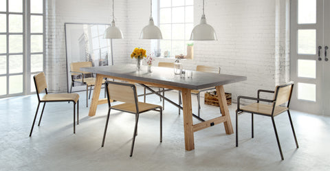 Dover Dining Table and 6x Grammar Dining Chairs Set