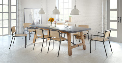 Dover Dining Table and 8x Grammar Dining Chairs Set