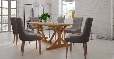 Chablis Table & 6x Espen® Scoop Back Chairs Dining Set