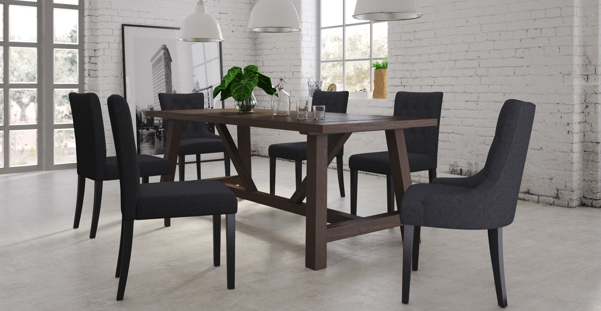 Chelsea Table, 4x Espen® Dining Chairs & 2x Espen® Scoop Dining Set