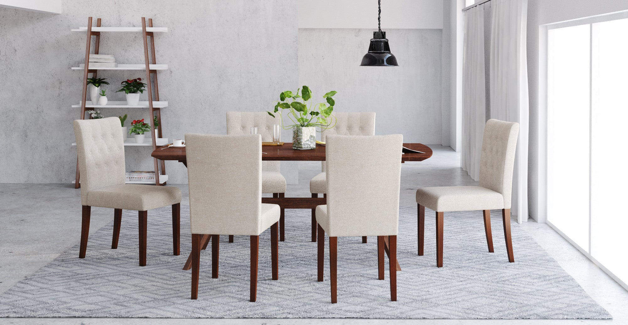 Elizabeth Dining Table And 6x Espen 174 Dining Chairs Set