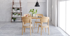 Mia 5 Piece Dining Set: Table and 4 Chairs