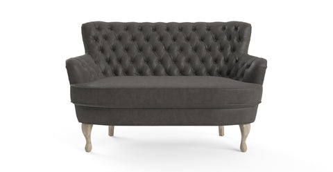 Alessia Leather Loveseat