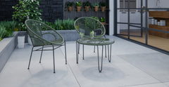 Majorca & Muro 3 Piece Outdoor Setting - 2x Accent Chairs with Coffee Table