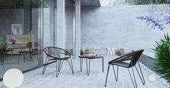 Muro 3 Piece Outdoor Setting - 2x Accent Chairs with Coffee Table