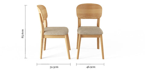 Mia 3 Piece Dining Set: 130cm Table and 2 Chairs