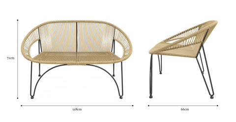 Muro Outdoor 2 Seater