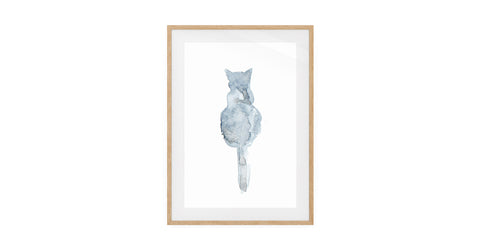 The Cornflower Cat Print