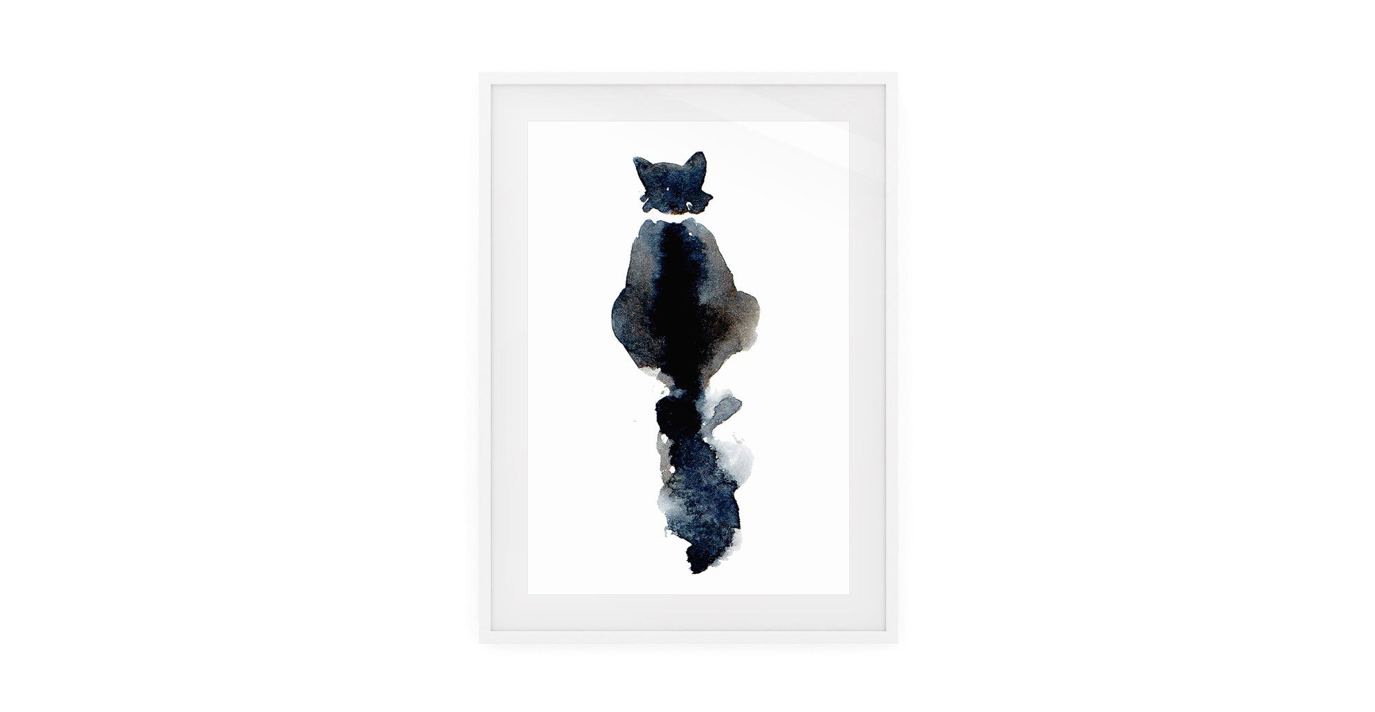 The Midnight Cat Print