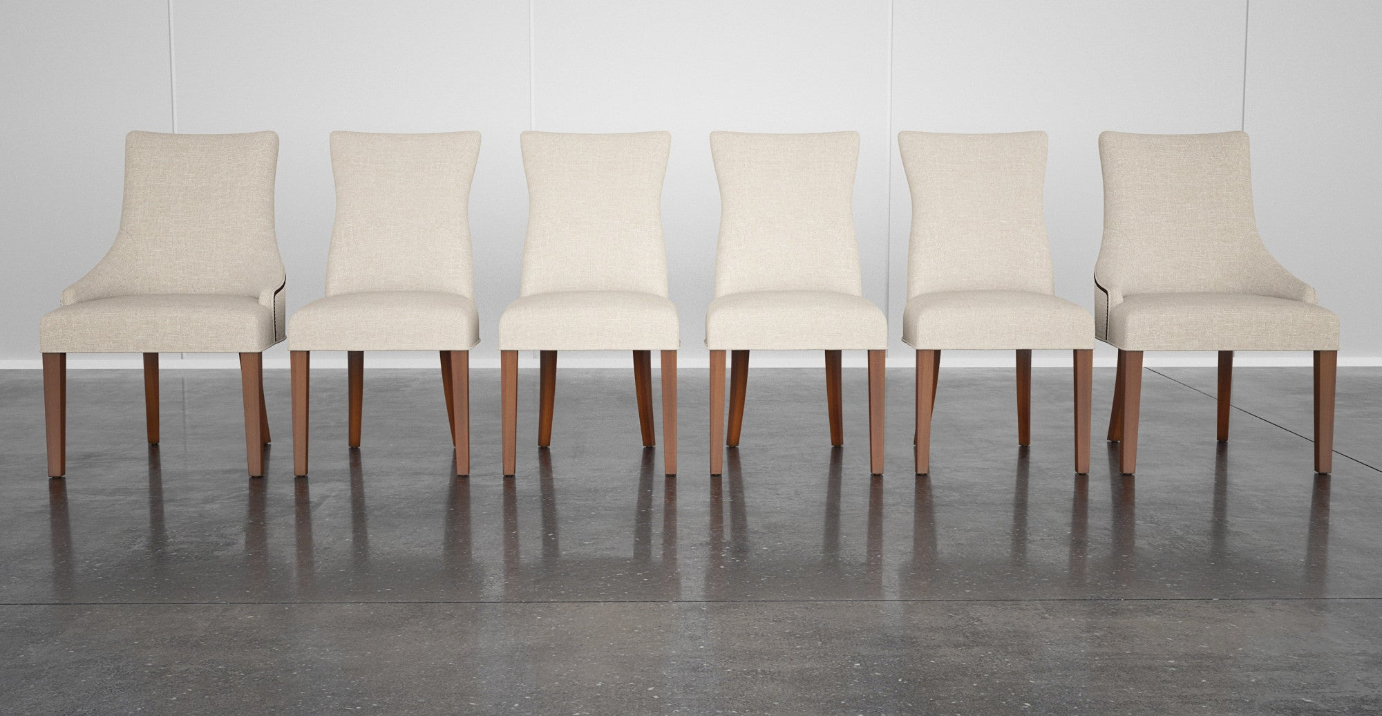 4x Zoe Dining Chairs & 2x Zoe Scoop Back Dining Chairs