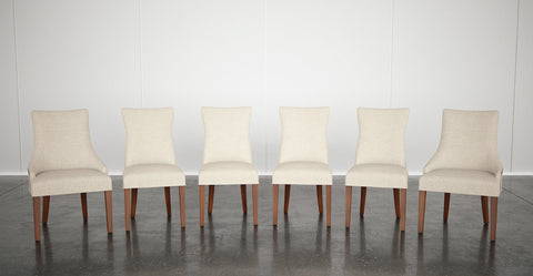4x Zoe Dining Chairs and 2x Zoe Scoop Back Dining Chairs