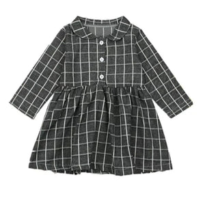 | REMI | Gray Grid Dress