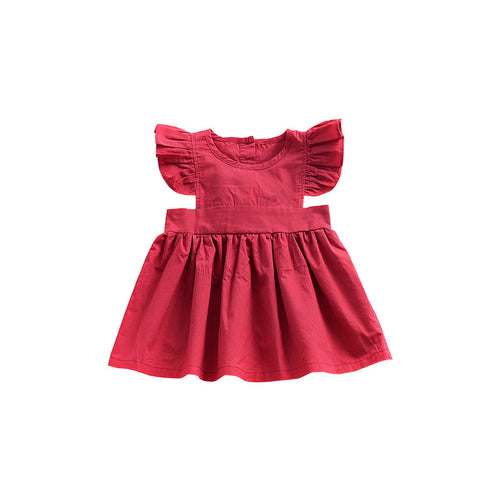 | AVA | Red Ruffle Sleeve Dress