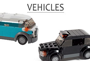 Stylish transport in minifigure scale