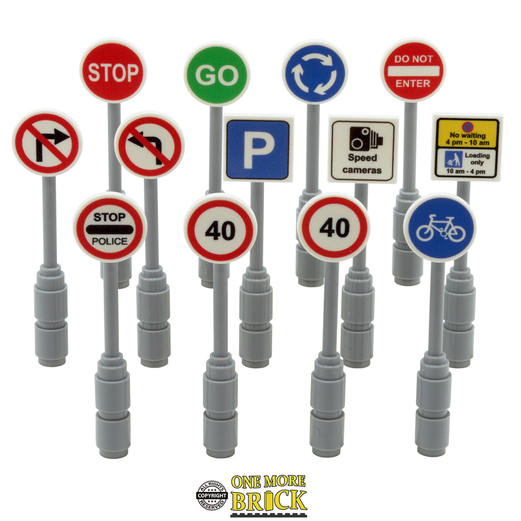 Road Signs - Pack of 13