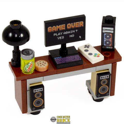 Computer Gaming Desk with Custom Prints