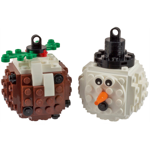 Lego Baubles - Snowman & Pudding
