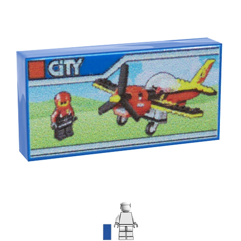 <small><sup>PAL-01</small></sup><br>LEGO Box - Aeroplane<br>1x2 Tile