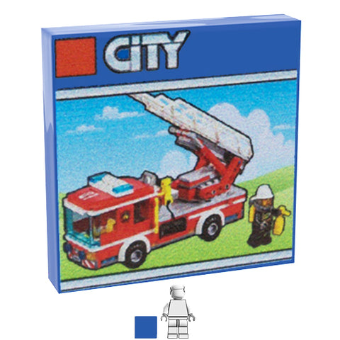 <small><sup>PAL-02</small></sup><br>LEGO Box - Fire Truck<br>2x2 Tile