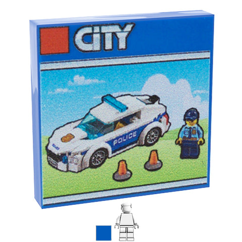 <small><sup>PAL-03</small></sup><br>LEGO Box - Police Car<br>2x2 Tile