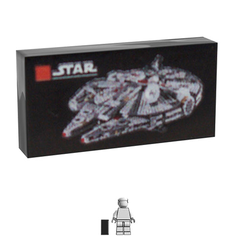 <small><sup>AA-004</small></sup><br>LEGO Box - Millennium Falcon<br>1x2 Tile