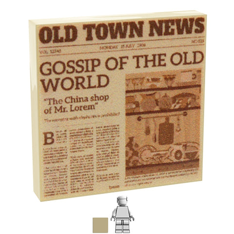 <small><sup>PAN-03</small></sup><br>Newspaper - Old Town<br>2x2 Tile