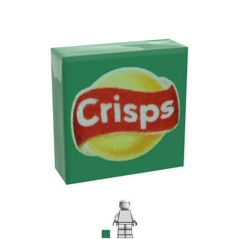 <small><sup>PF-02</small></sup><br>Green Crisps<br>1x1 Tile