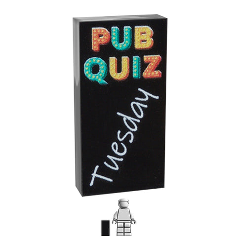 <small><sup>BA-040</small></sup><br>Pub Quiz Sign<br>1x2 Tile