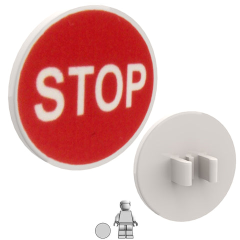<small><sup>PSR-03</small></sup><br>Road Sign - STOP<br>2x2 Round plate with clip