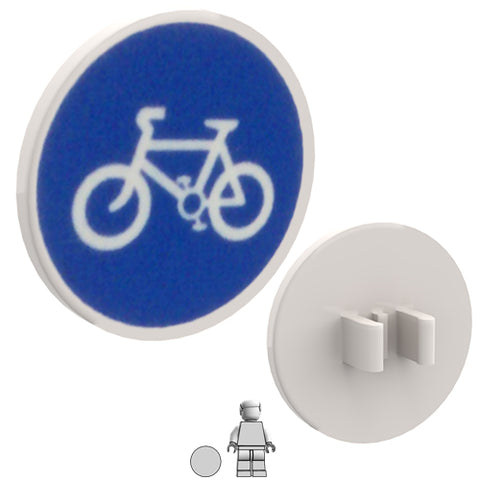 <small><sup>PSR-07</small></sup><br>Road Sign - Cycle Path<br>2x2 Round plate with clip