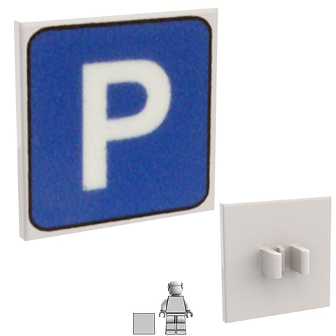 <small><sup>PSR-09</small></sup><br>Road Sign - Parking<br>2x2 Square plate with clip
