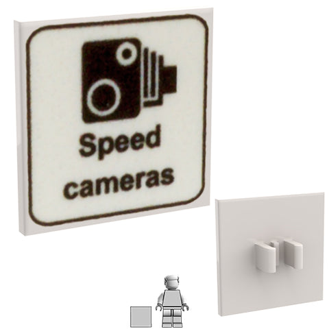 <small><sup>PSR-10</small></sup><br>Road Sign - Speed Cameras<br>2x2 Square plate with clip