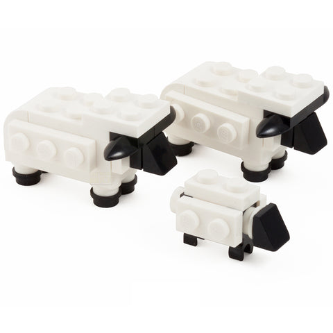 Sheep + Grass - pack of 3